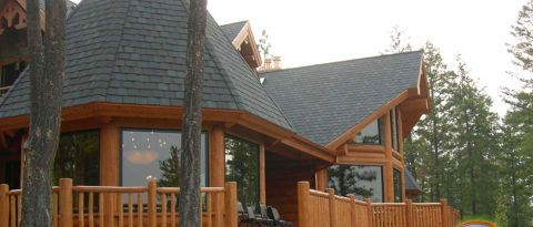 Log Home Exterior Designs 7
