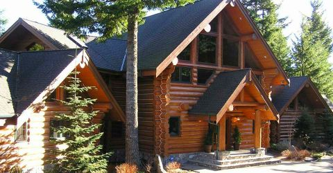 Log Home Exterior Designs 5