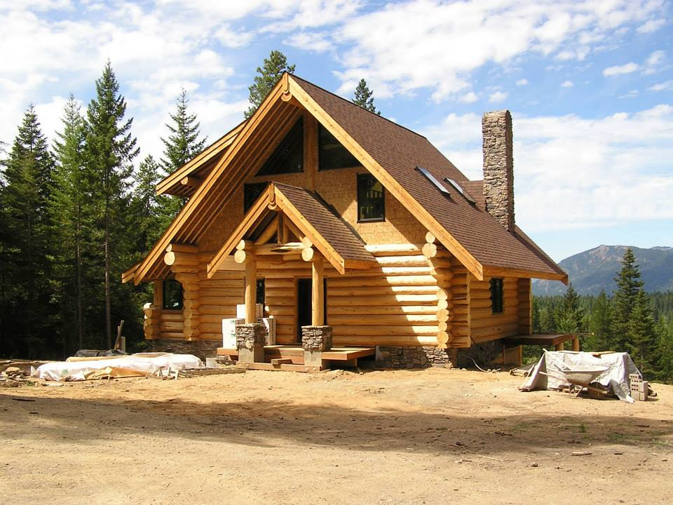 Log Home Exterior Designs 21
