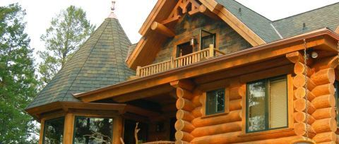 Log Home Exterior Designs 8