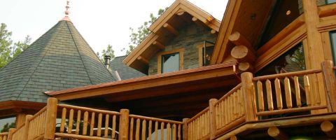 Log Home Exterior Designs 9