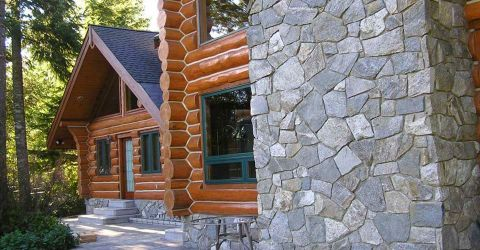 Log Home Exterior Designs 3