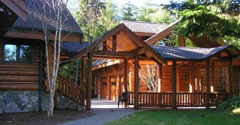 Log Home Exterior Designs 2