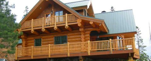 Log Home Exterior Designs 12
