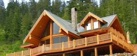 Log Home Exterior Designs 10